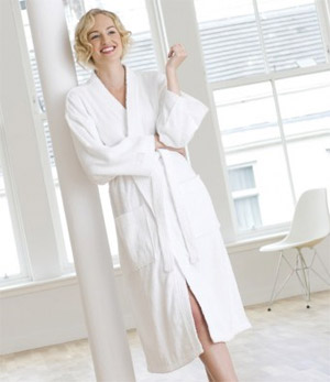 Ladies Towelling Dressing Gown - High Living