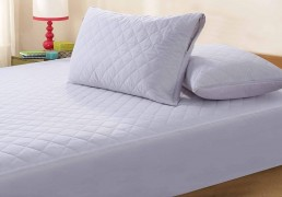 Zipped Quilted Pillow Protector