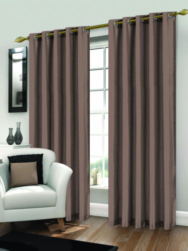 Luxury Faux Silk Curtains