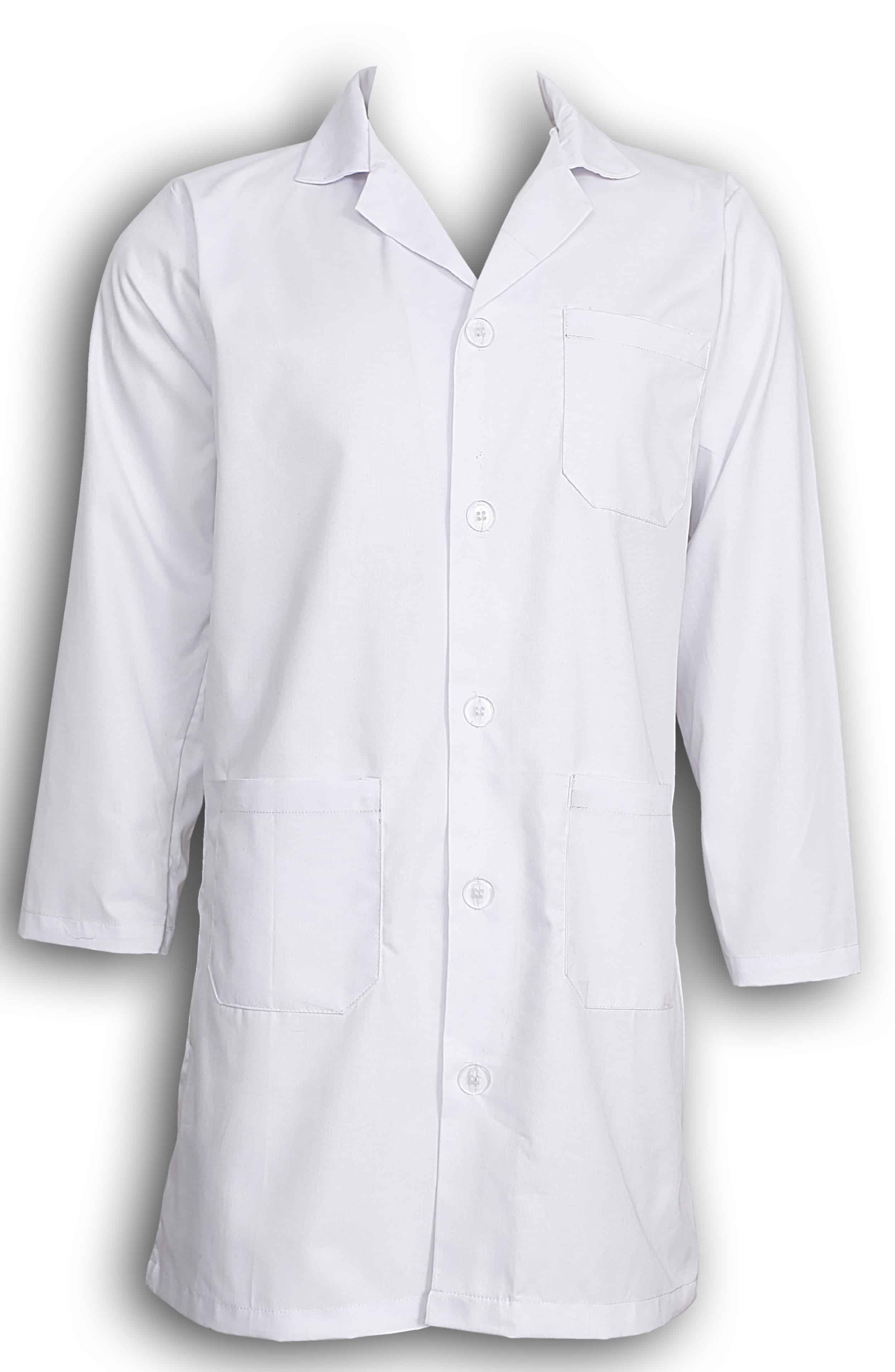 Unisex White Lab Coat Laboratory Coat Warehouse Coat
