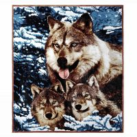 3D Faux Fur Throw Double King Blanket Animal Print Mink Sofa Bed Fleece Large