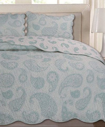 3Pcs Quilted Bedspread Sets Comforter Set Floral Vintage Patch Work Double King