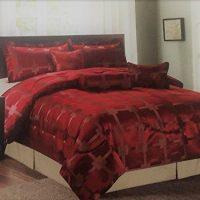 7Pc Jacquard Duvet Comforter Quilt Set Luxury Bedding Cushion Bedsheet BedCover