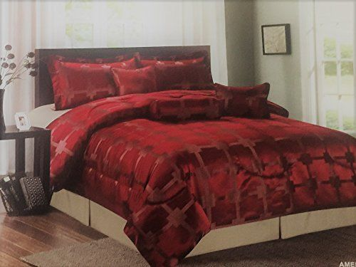 7Pc Jacquard Duvet Comforter Quilt Set Luxury Bedding Cushion Bedsheet BedCover