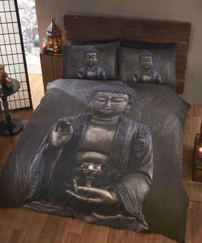 Buddha Design Photo Print Duvet / Quilt Cover Bedding Set Single, Double, King