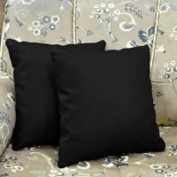 2 x Plain Dyed Cushion Cover Percale Pillow Case Home Sofa Dacor with zip