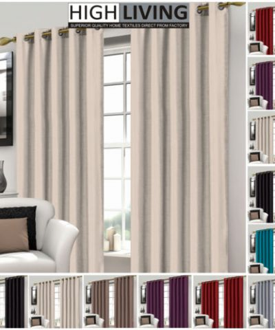 Luxury Faux Silk Curtains