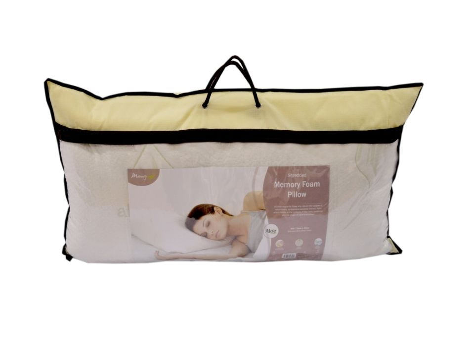 Luxury Memory Foam Core Orthopedic Extra Support Firm Bed Pillow
