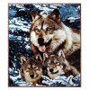 3D Faux Fur Throw Double King Blanket Animal Print Mink Sofa Bed Fleece Large