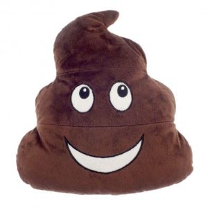 Poo Emoji Hot Water Bottle With Soft Fleece Cover, Warm Winter Gift