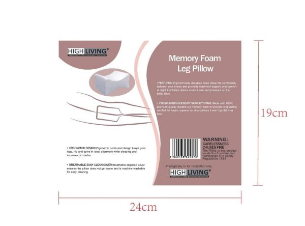 Highliving®Contour Memory Foam Leg Pillow Orthopaedic Firm Back Hip Knee Support