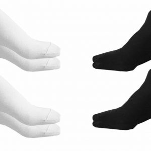 Trainer Liner Ankle Socks Mens Womens Cotton Rich Sport Black White x12 Pairs