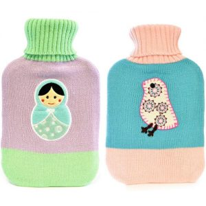 Beautiful Russian Doll Or Chick Colourful Hot Water Bottle