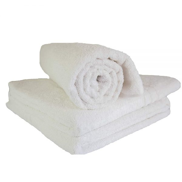 EXTRA LARGE WHITE BATH TOWELS