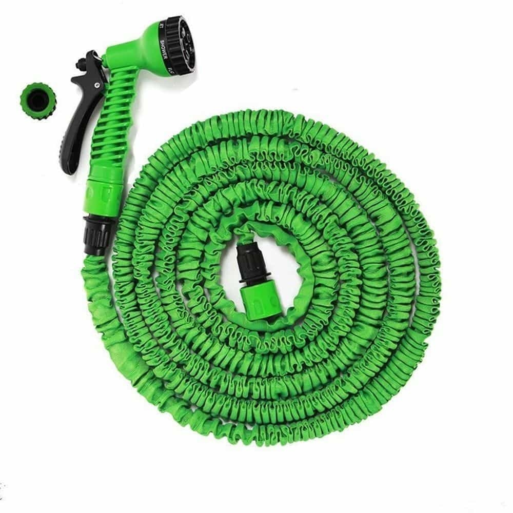 Expandable Flexible Garden Water Hose Pipe Spray Gun Pants Car Wash 50ft 100 Ft High Living