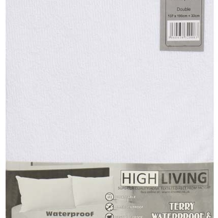 Water Proof Terry Towelling Pillow Protector High Living