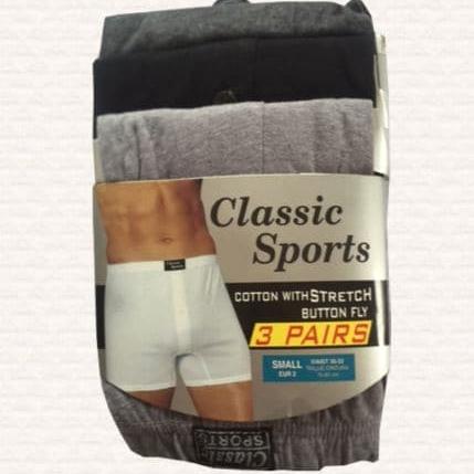 12 Pairs Mens Designer Plain Classic Sport Cotton Boxer