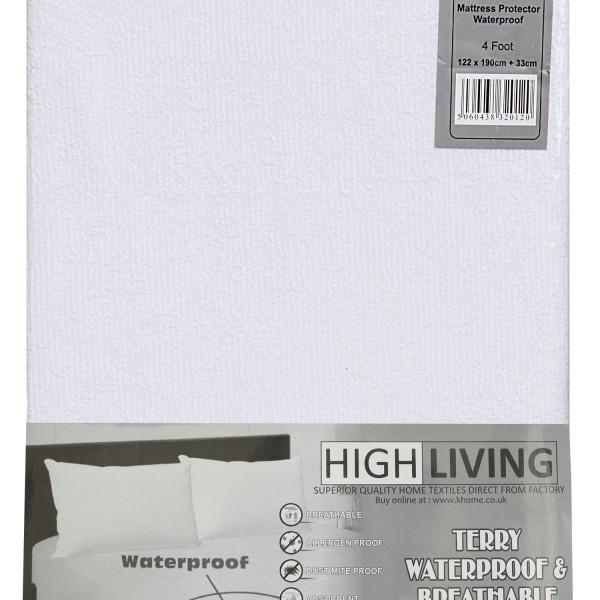 Terry Waterproof Mattress Protector High Living