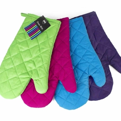 Cotton Thick Double Kitchen Baking Cook Insulated Padded Oven Glove Mit pair