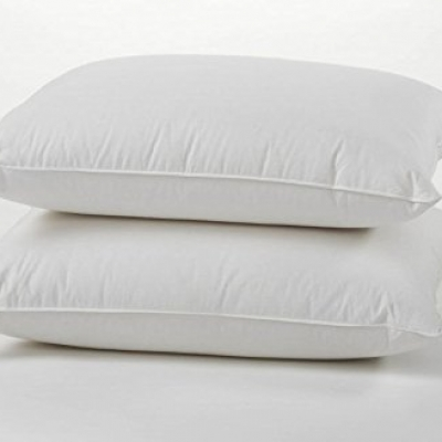 Luxury Duck Feather Down Pillows Pair, Soft & Comfortable Hotel Quality 100% Cotton