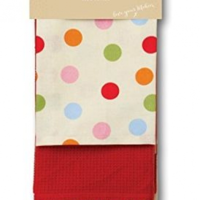 2 x 3 PACK 100% COTTON TEA TOWEL KITCHEN DISH CLEANING CLOTH SUPER ABSORBENT