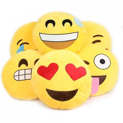 32*32CM Soft Round Emoji Smiley Emoticon Cushion Pillow Stuffed Plush Toy Doll